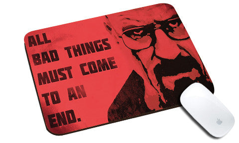 Cool design Breaking Bad natural rubber mouse pad Red face