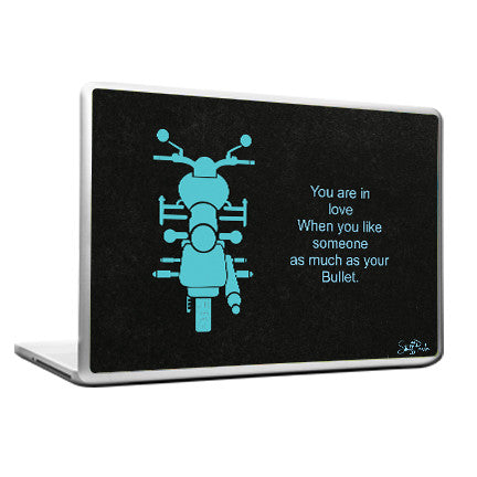 Cool Abstract Inspiring Bullet Enfield 2nd Laptop cover skin vinyl decals - stuffpanda - 1
