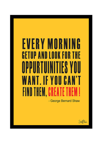Cool Funky Motivational Every morning when Glass frame posters Wall art