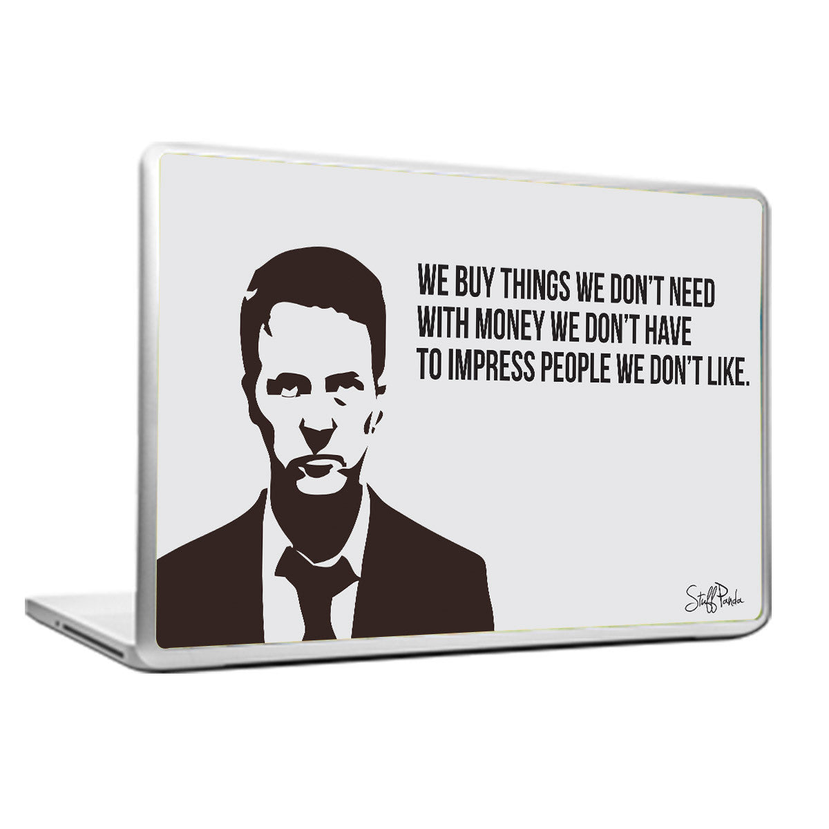Cool Funky Motivation Fight Club We Buy Stuff Laptop Cover Skin - Cool vinyl decals