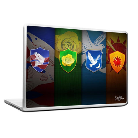 Cool Abstract Game of thrones 4 Houses Laptop cover skin vinyl decals
