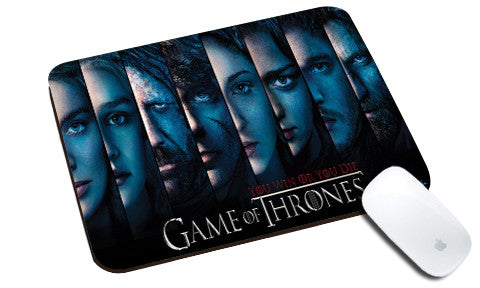 Cool design Game of Thrones natural rubber mouse pad All faces