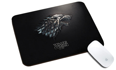 Cool design Game of Thrones natural rubber mouse pad horse silver
