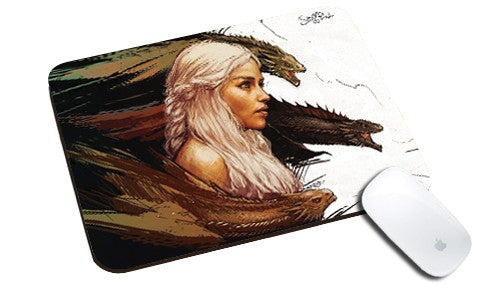 Cool design Game of Thrones natural rubber mouse pad lady horse