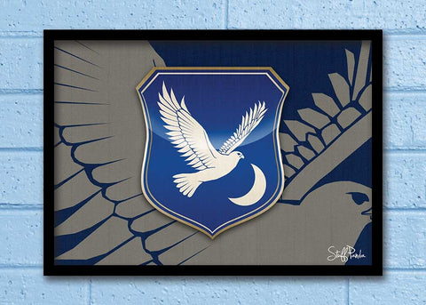Cool Abstract Game of thrones House Arryn Wall Glass Frame posters Wall art