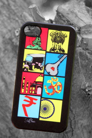 Designerr funky cool indian boxes Hard back cover / case for Iphone 4 / 4S
