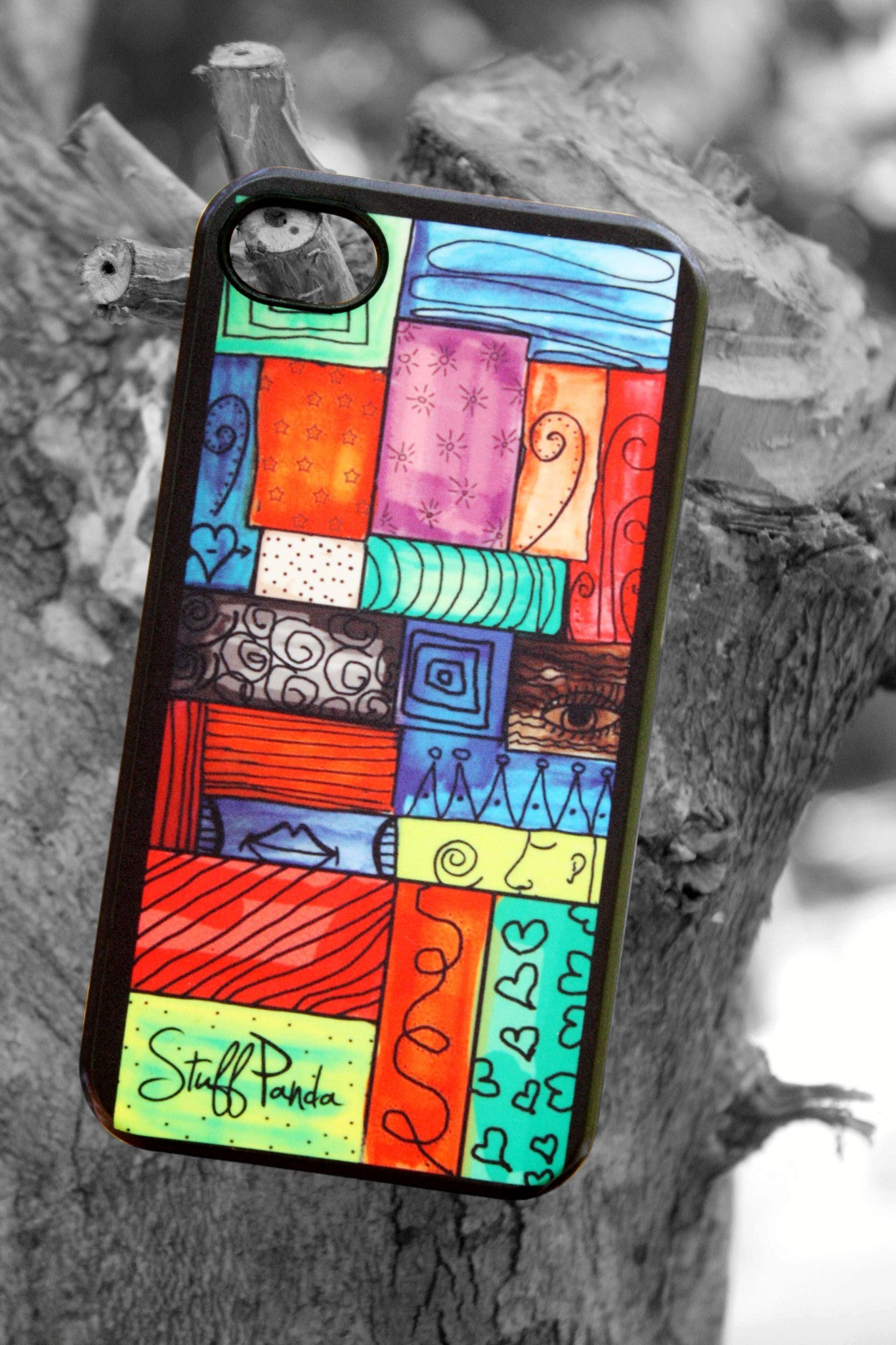 Designer funky cool Color grille hard back cover / case for Iphone 4 / 4S - stuffpanda - 1