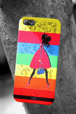 Designer funky cool Blitzy girl hard back cover / case for Iphone 5 / 5S