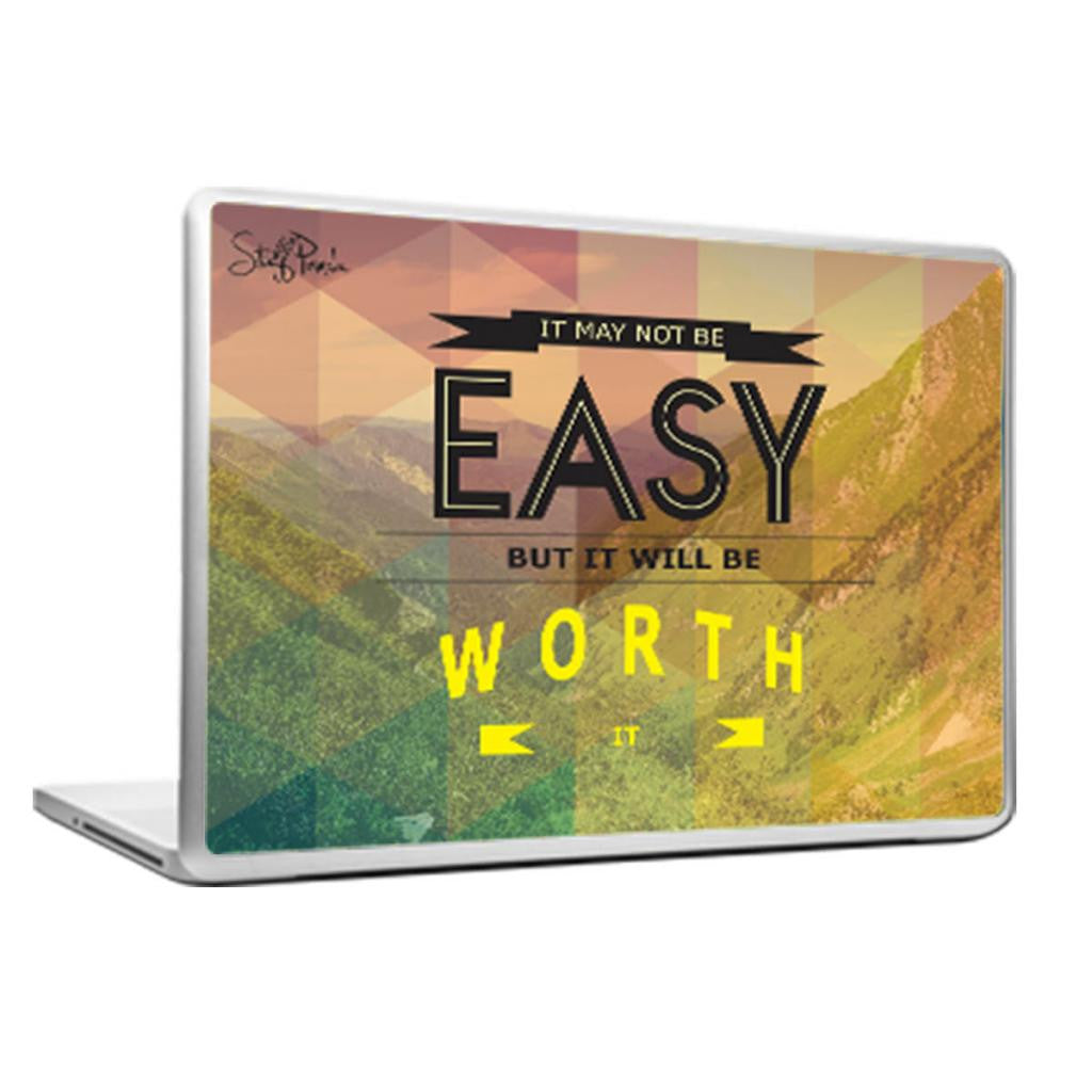 Cool Abstract Motivation It may not be easy Laptop cover skin vinyl decals - stuffpanda - 1