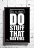 Cool Abstract Motivation Life is short Do wall posters, art prints, stickers decals - stuffpanda - 1