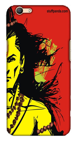 Cool Funky Lord Rama Red mobile case of Oppo F1s
