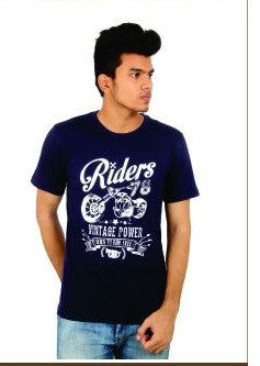 Stylish Funky Rider Blue T Shirt