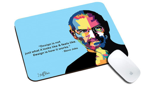 Cool design Apple Steve jobs face Pixels natural rubber mouse pad