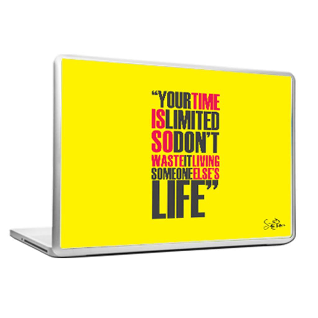 Cool Abstract Motivational Steve Apple Your time Laptop cover skin vinyl decals - stuffpanda - 1