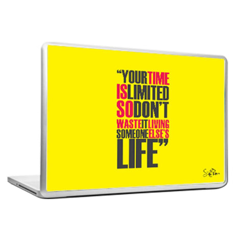 Cool Abstract Motivational Steve Apple Your time Laptop cover skin vinyl decals