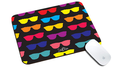 Cool design Abstract Sunglasses many natural rubber mouse pad - stuffpanda
