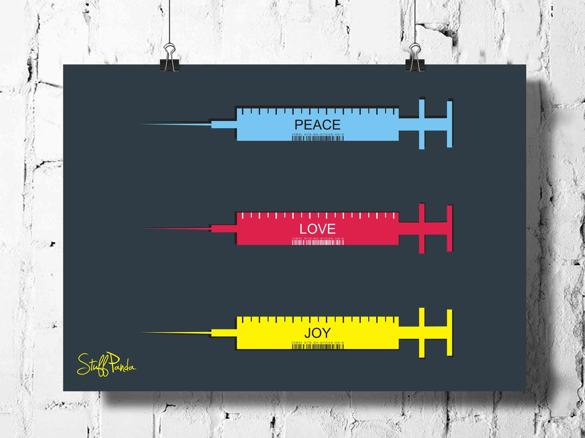 Cool Abstract Motivation Love Syringes wall posters, art prints, stickers decals - stuffpanda - 1