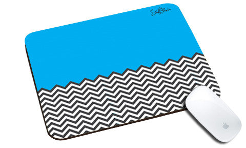 Cool design Abstract Ws Blue n White natural rubber mouse pad