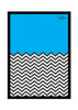 Cool Funky Abstract Ws Blue n White Glass frame posters Wall art - stuffpanda - 1