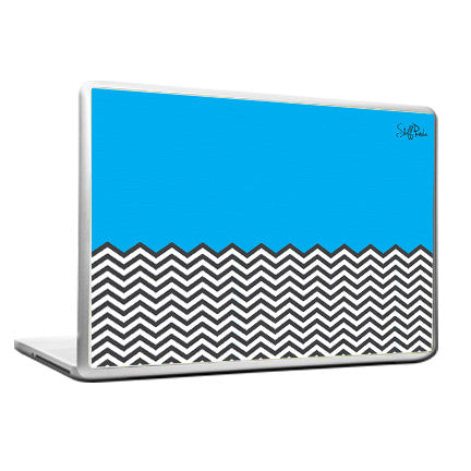 Cool Abstract Ws Blue n White Laptop cover skin vinyl decals - stuffpanda - 1