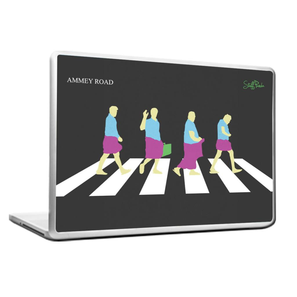 Cool Abstract Funny South Indian Abbey Road Laptop cover skin vinyl decals - stuffpanda - 1