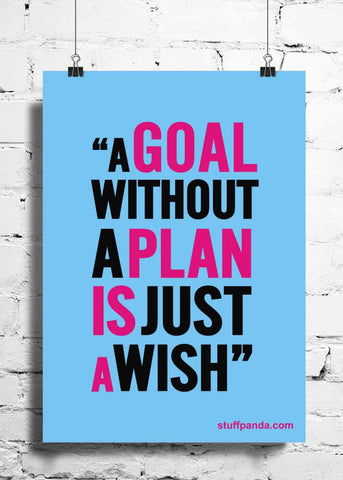 Cool Abstract Motivation A Goal without a plan wall posters, art prints, stickers decals