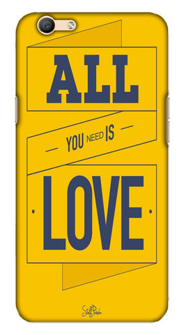 Cool funky All Need is Love mobile case for Oppo F1s