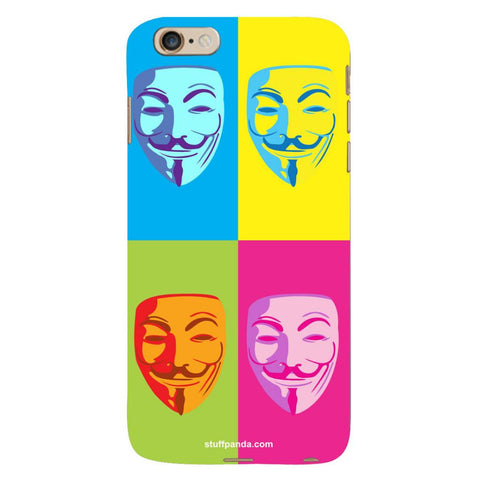 Designer Cool funky Anonymous Face hard back cover / case for Iphone 6 plus
