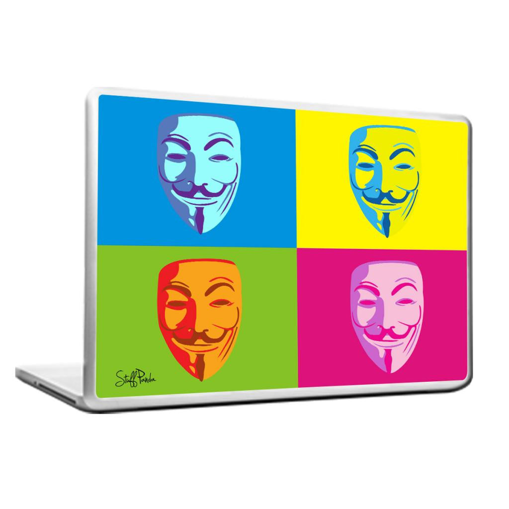 Cool Abstract Anonymous faces box Laptop cover skin vinyl decals - stuffpanda - 1