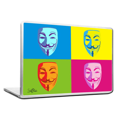 Cool Abstract Anonymous faces box Laptop cover skin vinyl decals