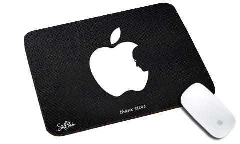 Cool design Apple Steve jobs face natural rubber mouse pad