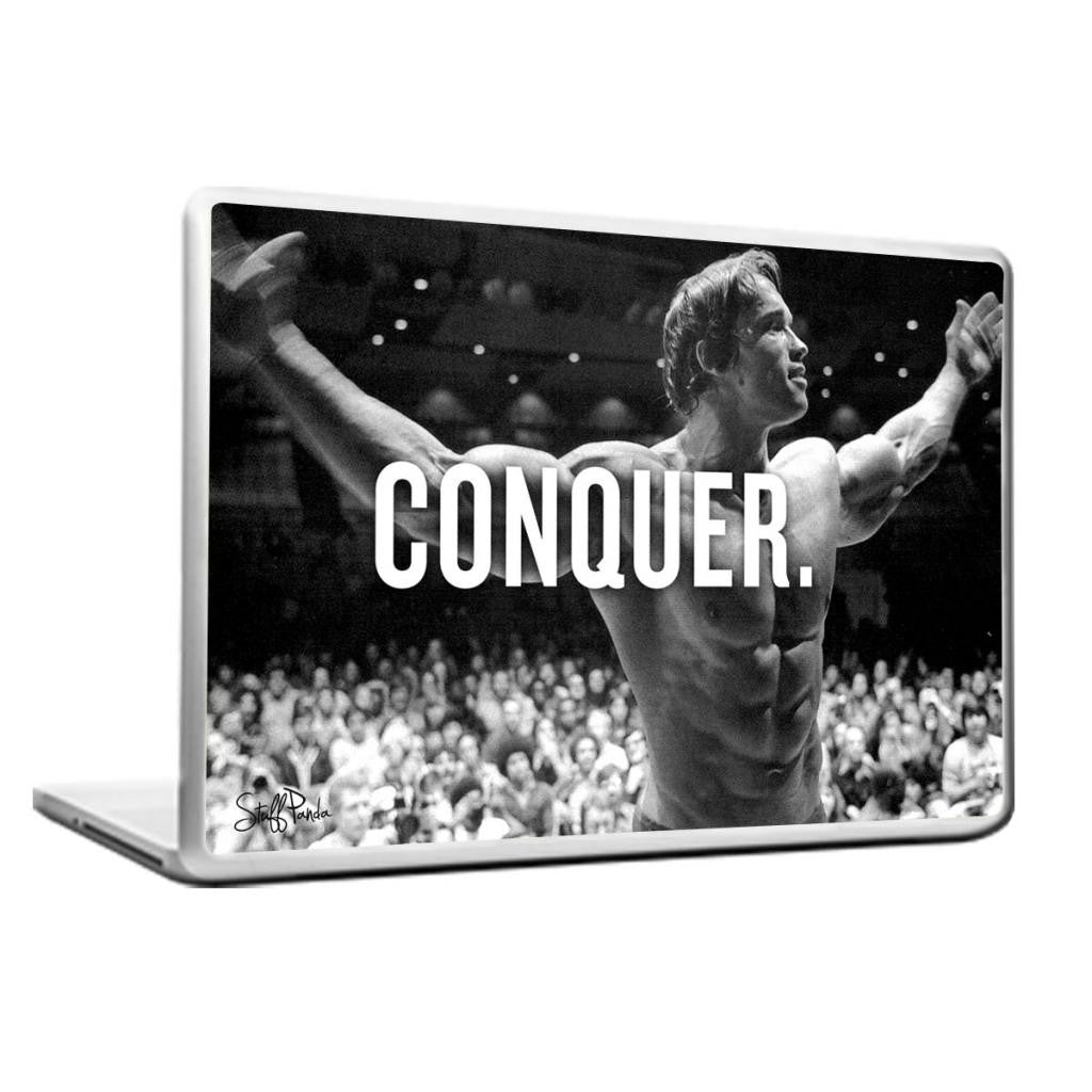 Cool Abstract Motivation Gym workout Arnold Conquer Laptop cover skin vinyl decals - stuffpanda - 1