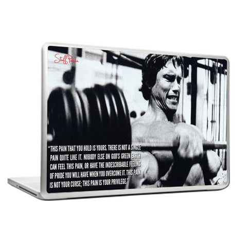 Cool Abstract Motivation Gym workout Arnold This Pain Laptop cover skin vinyl decals