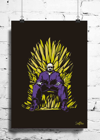 Cool Funky Breaking Bad Throne wall posters, art prints, stickers decals