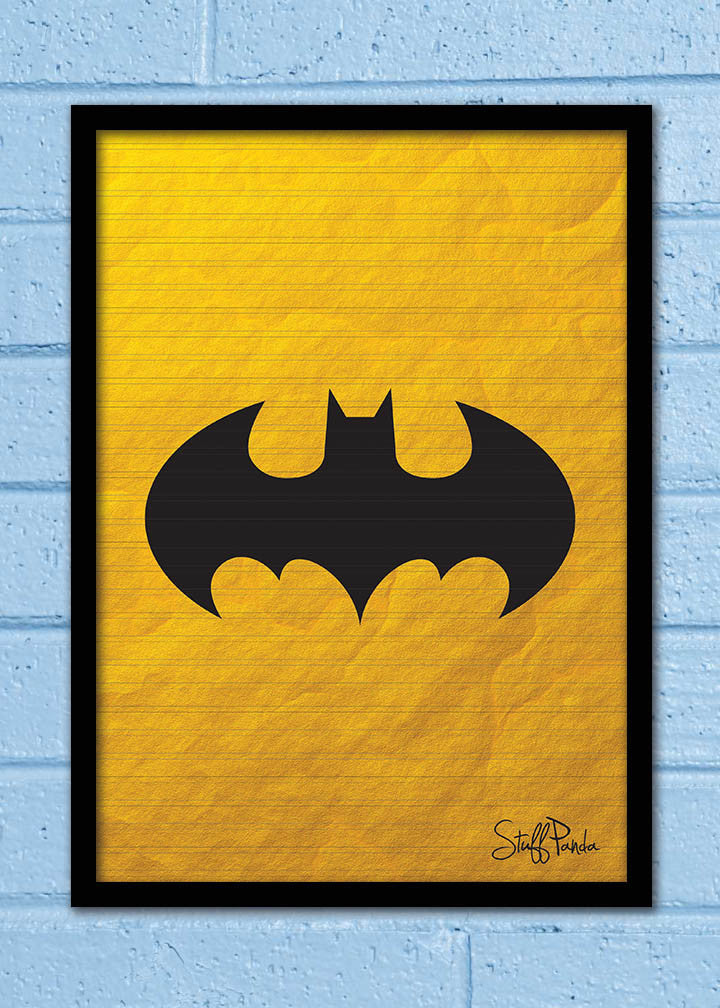 Cool Funky Abstract Batman shutter Glass frame posters Wall art - stuffpanda - 1