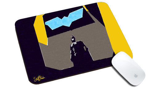 Cool design Funky Batman Blue Grunge natural rubber mouse pad