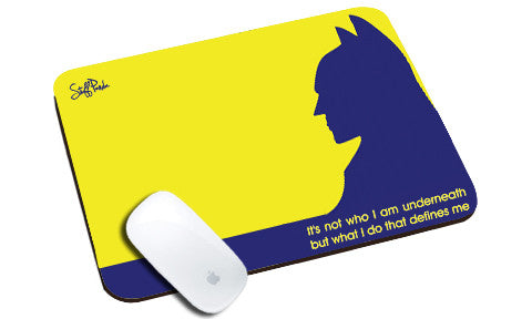 Cool design Funky Batman Yellow Blue natural rubber mouse pad - stuffpanda