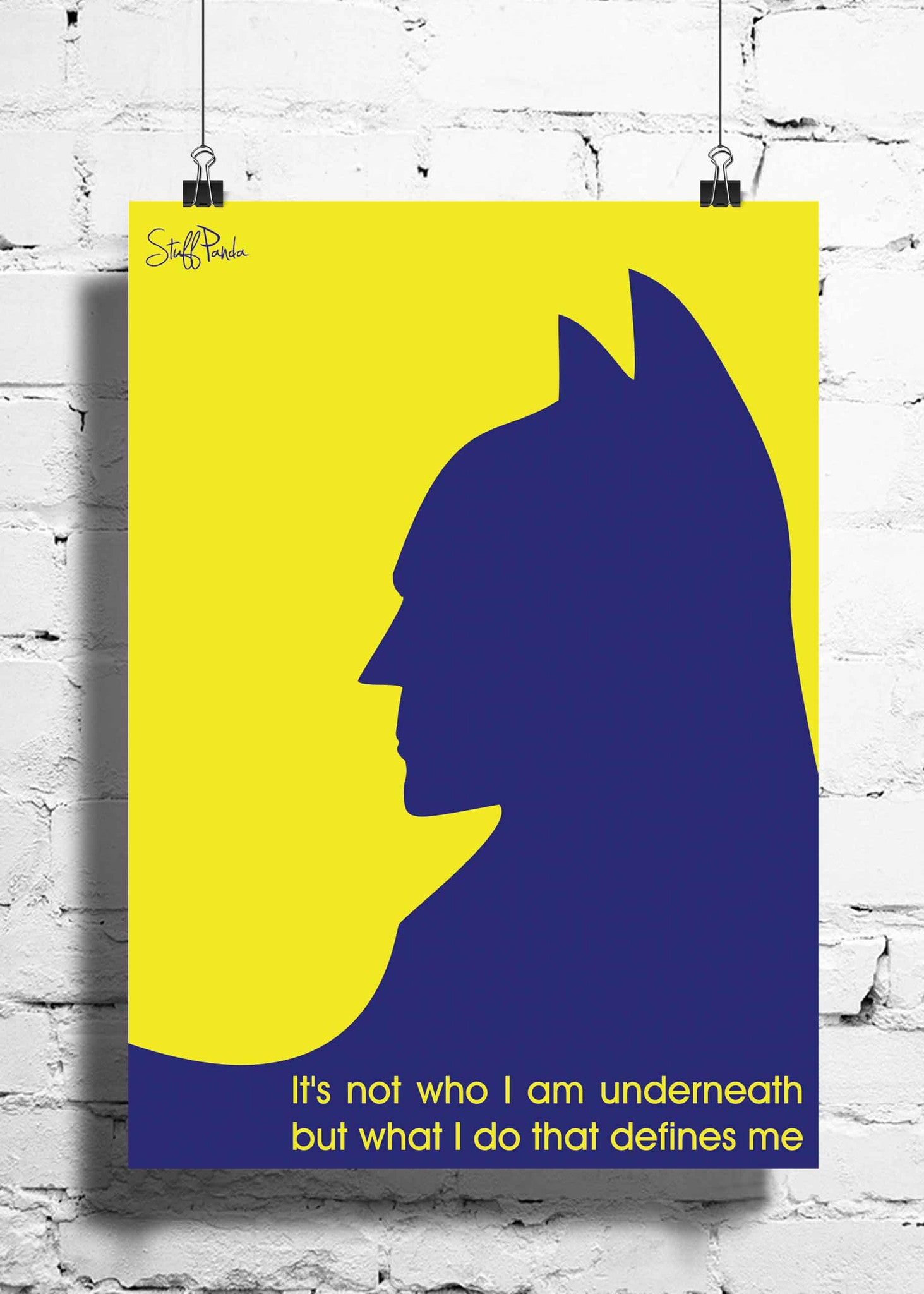 Cool Funky Batman Yellow Blue wall posters, art prints, stickers ...