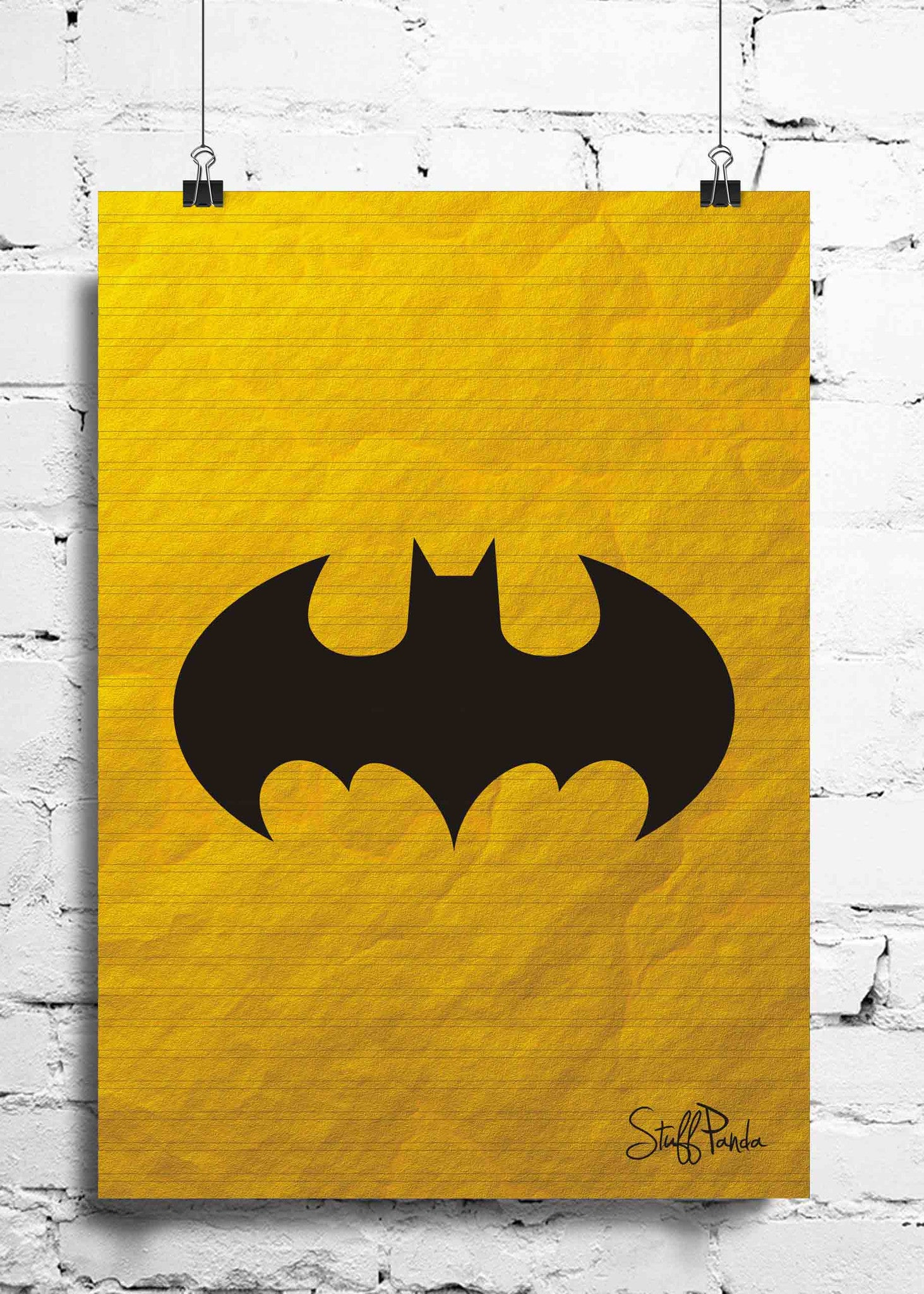 Cool Funky Abstract Batman shutter wall posters, art prints, stickers decals - stuffpanda - 1
