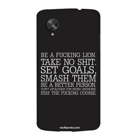 Designer Motivational Smash Them hard back cover / case for Nexus 5