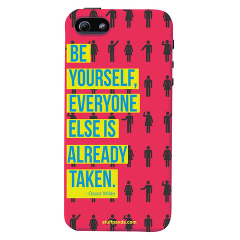 Designer Motivational Be Yourself hard back cover / case for Iphone 5 / 5s