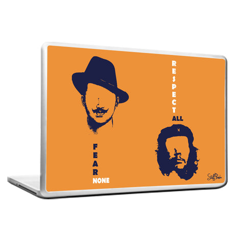 Cool Funky Bhagat Motivational CheGuevara Laptop cover skin vinyl decals Orange