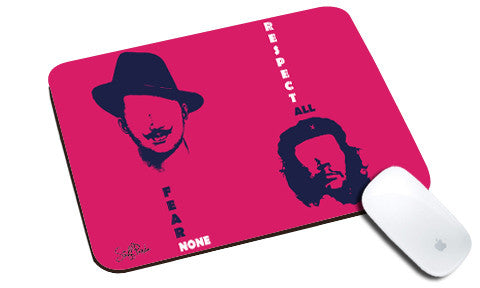 Cool design Motivational Bhagat CheGuevara natural rubber mouse pad Pink - stuffpanda