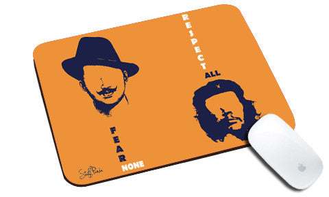 Cool design Motivational Bhagat CheGuevara natural rubber mouse pad Orange - stuffpanda
