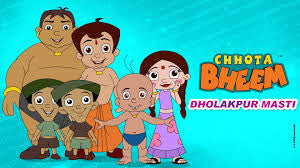 Cool Abstract chhota bheem blue dholakpur masti wall posters, art prints, wall stickers decals