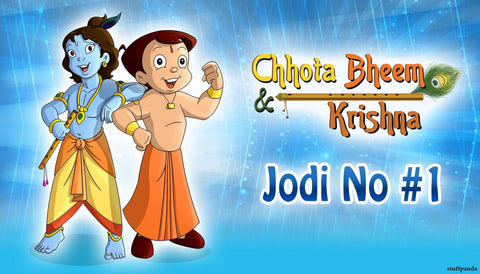 Cool Abstract Chhota Bheem and krishna Jodi wall posters, art prints, stickers decals
