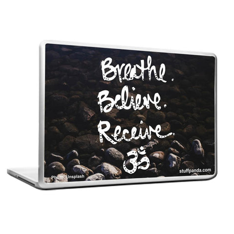 Cool Abstract Ethnic Breathe Believe Laptop cover skin vinyl decals