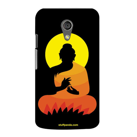 Designer Cool Ethnic Gautam Buddha hard back cover / case for Moto G2