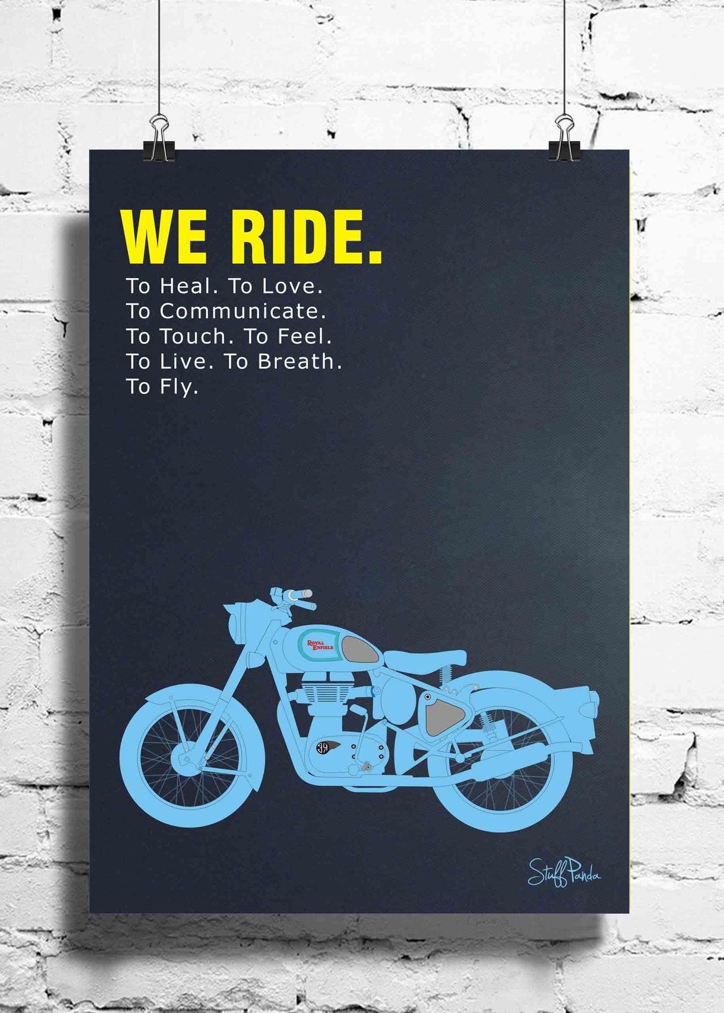 Cool Funky Abstract Royal Bullet Bike wall posters, art prints, stickers decals - stuffpanda - 1