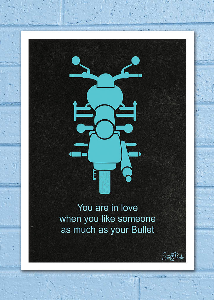 Cool Abstract Biker Bike Bullet You are in wall Wall Glass Frame posters Wall art - stuffpanda - 1